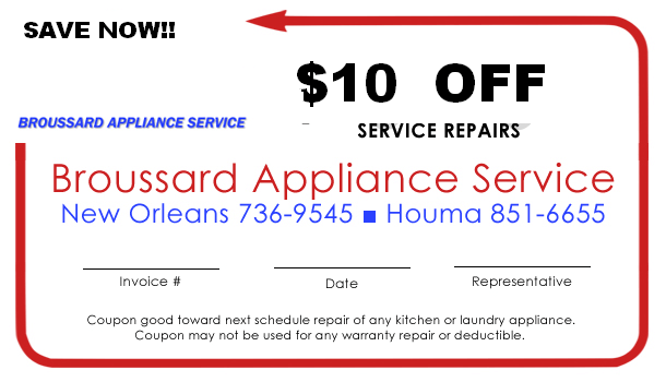 Save Now!! $10 Off Service Repairs